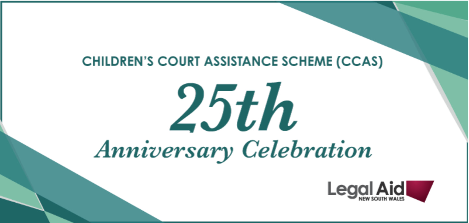 Children's Court Assistance Scheme 25th Anniversary – 2020